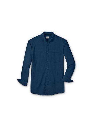 Düğme Yakalı Organik Pamuklu Gömlek-Tchibo